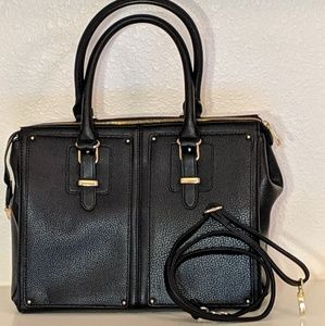 Mossimo for Target Large Black Faux Leather Bag